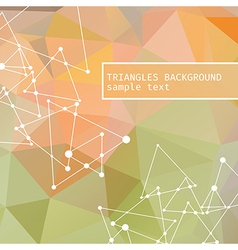 Mosaic effect of triangles triangular vector image
