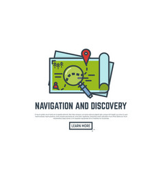 navigation and discovery vector image