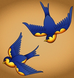 Oldschool tattoo birds vector