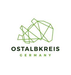 ostalbkreis germany technology geometric vector image