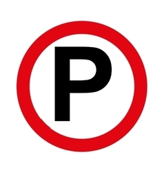 Parking zone signal traffic circle vector