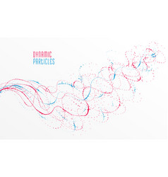 particle flow array colorful abstract background vector image