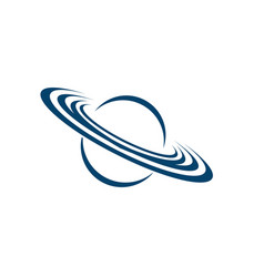 planet and orbit logo vector image