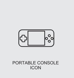 Portable console icon vector