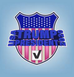 Poster 3d lettering usa trump president 2020 vector