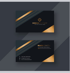 Premium business card design background vector