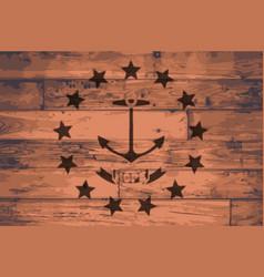 Rhode island state flag brand vector