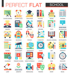 School edication complex flat icon concept vector