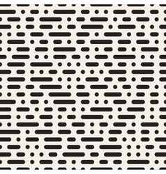 Seamless morse code dashed horizontal lines vector