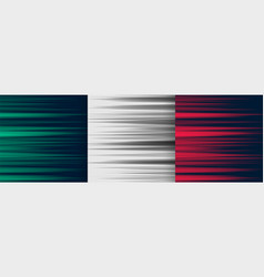 set horizontal speed lines background in three vector image