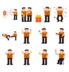 Set of male characters vector