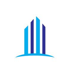 skyscrapers building construction logo vector image