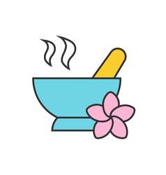 spa salon mortar and pestle color icon vector image