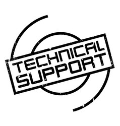 Technical support rubber stamp vector