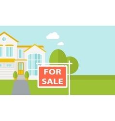 The house on sale vector