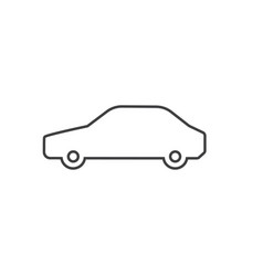 thin line car icon isolated on white background vector image