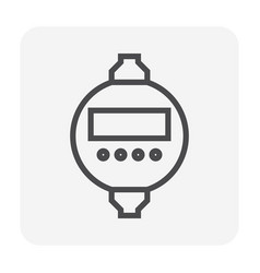 timer switch icon vector image