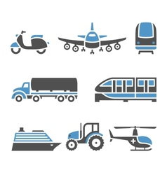 Transport icons - a set tenth vector