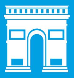 Triumphal arch icon white vector