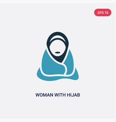two color woman with hijab icon from other vector image