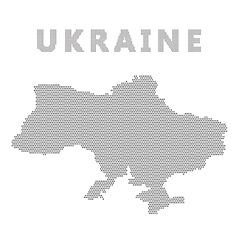 Ukraine map with gray dot vector
