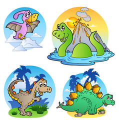 Various dinosaur images 1 vector