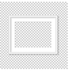 white photo frame template vector image