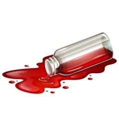 A spilled blood sample vector image vector image