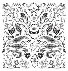 Hand Drawn Vintage design elements vector image