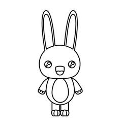 sketch silhouette of kawaii caricature cute vector image