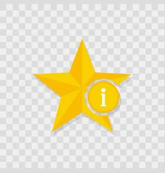 star icon information icon vector image