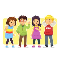 Casual Kids vector image