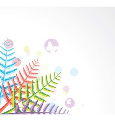 colorful fern leaves vector image vector image