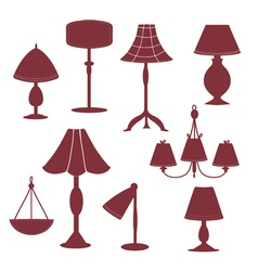 Lams silhouette with patterns vector image