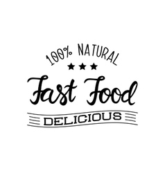Logo for the fast food restaurant and products vector image