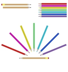 Set of colourful marker pens vector image