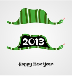 Vintage Happy New year 2013 concept snake vector image vector image