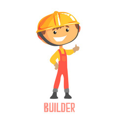 builder construction worker repairman colorful vector image