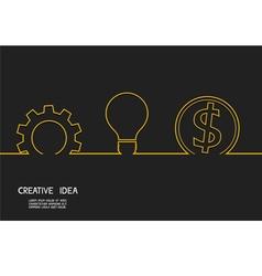 Creative idea concept make money vector