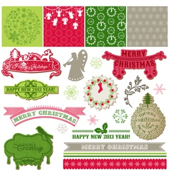 Design Elements - Vintage Merry Christmas vector image vector image