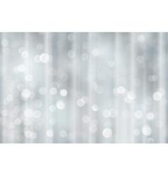 Silver bokeh holiday Christmas lights vector image