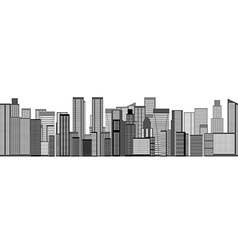 Skyline City Seamless Background vector image vector image