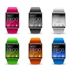 Smart Watch Icon Set vector image