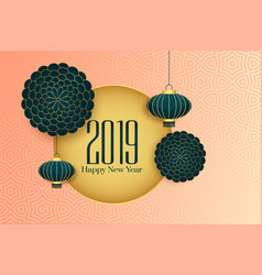 2019 happy chinese new year elegant background vector