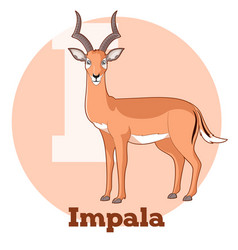 Abc cartoon impala vector