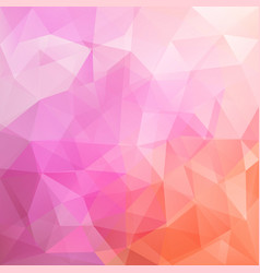 abstract triangular mosaic pink background vector image
