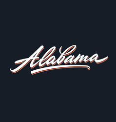 Alabama brush lettering script vector