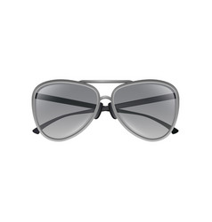 Aviator sunglasses with gray tinted lenses thin vector