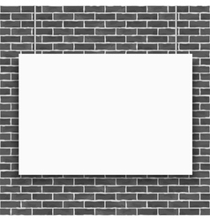 Banner on Brick Wall vector image vector image