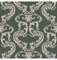 Baroque floral damask pattern vector